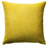 ГУЛЛЬКЛОКА Чехол на подушку, желтый, 50x50 см
