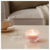 БЛОМДОРФ Ароматическая свеча в стакане, душистый горошек, светло-оранжевый, 9 см