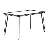 ЛИСАБО Стол, черный, 140x78 см