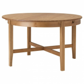 ЛЕКСВИК Раздвижной стол, морилка,антик, 126/171 см