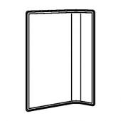 БЕКАНТ Экран д/письменного стола, серый, 120 см