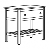 ХЕМНЭС Открытый шкаф для раковины,1 ящик, белый, 82x48x76 см