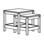 ХАВСТА Комплект столов, 2 шт, белый