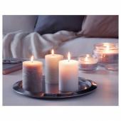 ЛУГГА Формовая свеча, ароматическая, Нежная ваниль, бежевый, 10 см