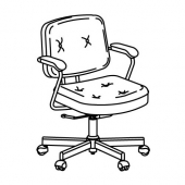 АЛЕФЬЕЛЛЬ Рабочий стул, Гранн золотисто-коричневый