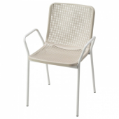 ТОРПАРЁ Легкое кресло для дома/сада, белый, бежевый
