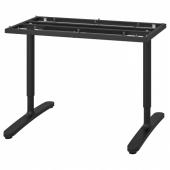 БЕКАНТ Подстолье для столешницы, черный, 120x80 см