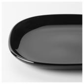 БАККИГ Тарелка десертная, черный, 18x18 см