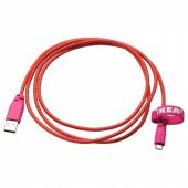 ЛИЛЛЬХУЛЬТ Кабель микро-USB-USB, розовый, 1.5 м