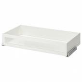 КОМПЛИМЕНТ Ящик/стеклянная фронтальная панель, белый, 100x58 см