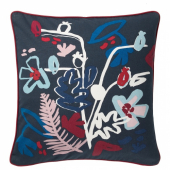 МОЛАРБОРСТЕ Чехол на подушку, темно-синий, разноцветный, 50x50 см