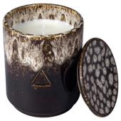 ОСИНЛИГ Ароматическая свеча в банке, Береза и можжевельник, коричневый бежевый, 10 см