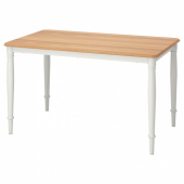 ДАНДЭРЮД Стол обеденный, белый, 130x80 см