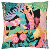 НЭБФЛИ Чехол на подушку, черный, разноцветный, 50x50 см