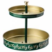 АНИЛИНАРЕ Подставка д/канцелярских принадлежн, зеленый золотой, металлический, 12x11 см