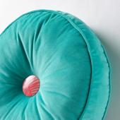 ГРАСИОС Подушка, бархат, бирюзовый, 36 см