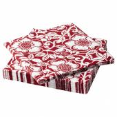 ВИНТЕР 2020 Салфетка бумажная, орнамент «рождественская роза» красный/белый, 33x33 см