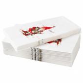 ВИНТЕР 2020 Салфетка бумажная, орнамент «Санта Клаус» белый/красный, 38x38 см