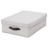 БЛЭДДРАРЕ Коробка с крышкой, серый, с рисунком, 35x50x15 см