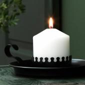 ВИНТЕР 2020 Подсвечник для формовой свечи, черный, 5 см