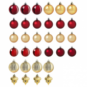 ВИНТЕР 2020 Набор елочных шаров, 32 шт., красный, золотой