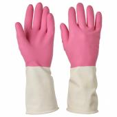 РИННИГ Хозяйственные перчатки, розовый, M