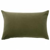 САНЕЛА Чехол на подушку, оливково-зеленый, 40x65 см