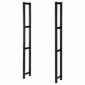 ИВАР Боковая стойка, черный, 30x179 см