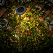 СОЛВИДЕН Подсветка н/солн батарее,светодиод, для сада, серый
