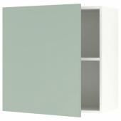КНОКСХУЛЬТ Навесной шкаф с дверцей, серо-зеленый, 60x60 см