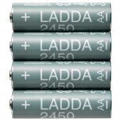 ЛАДДА Аккумуляторная батарейка, HR06 AA 1,2 В, 2450 мА•ч