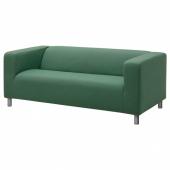 КЛИППАН Чехол на 2-местный диван, Висле зеленый