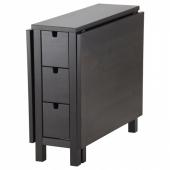 НОРДЕН Стол складной, коричнево-чёрный, 26/87/148x80 см