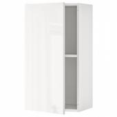 КНОКСХУЛЬТ Навесной шкаф с дверцей, глянцевый белый, 40x75 см