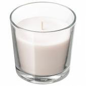 СИНЛИГ Ароматическая свеча в стакане, Сладкая ваниль, естественный, 9 см
