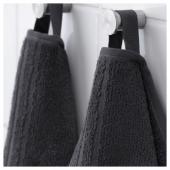 ВОГШЁН Полотенце, темно-серый, 30x50 см