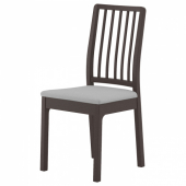 ЭКЕДАЛЕН Стул, темно-коричневый, Рамна Гуннаред Оррста классический серый светло-серый