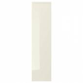 ВОКСТОРП Дверь, глянцевый светло-бежевый, 20x80 см