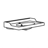 РЭТТВИКЕН Одинарная раковина, белый, 102x49x6 см