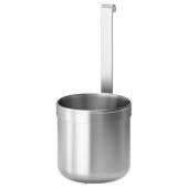 КУНГСФОРС Контейнер, нержавеющ сталь, 12.0x26.5 см