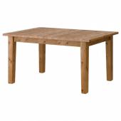 СТУРНЭС Раздвижной стол, морилка,антик, 147/204x95 см