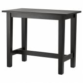 СТУРНЭС Барный стол, коричнево-чёрный, 127x70 см