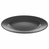 ВАРДАГЕН Тарелка десертная, темно-серый, 21 см