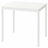 ВАНГСТА Раздвижной стол, белый, 80/120x70 см