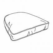 ЮПВИК Подушка, Блекинге белый, 54x54 см