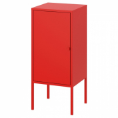 ЛИКСГУЛЬТ Шкаф, металлический, красный, 35x60 см