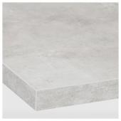 ЭКБАККЕН Столешница, светло-серый под бетон, ламинат, 186x2.8 см