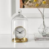 ГЭНГА Будильник, желтая медь, 8.5 см