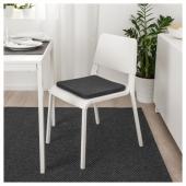 ХИЛЛАРЕД Подушка на стул, антрацит, 36x36x3.0 см