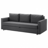 ФРИХЕТЭН 3-местный диван-кровать, Шифтебу темно-серый
